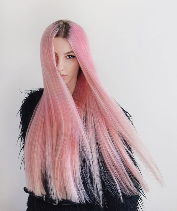 Pictures Of Pink Long Hairstyles