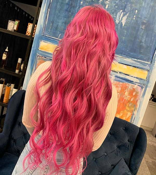 Pink Long Hair Pictures