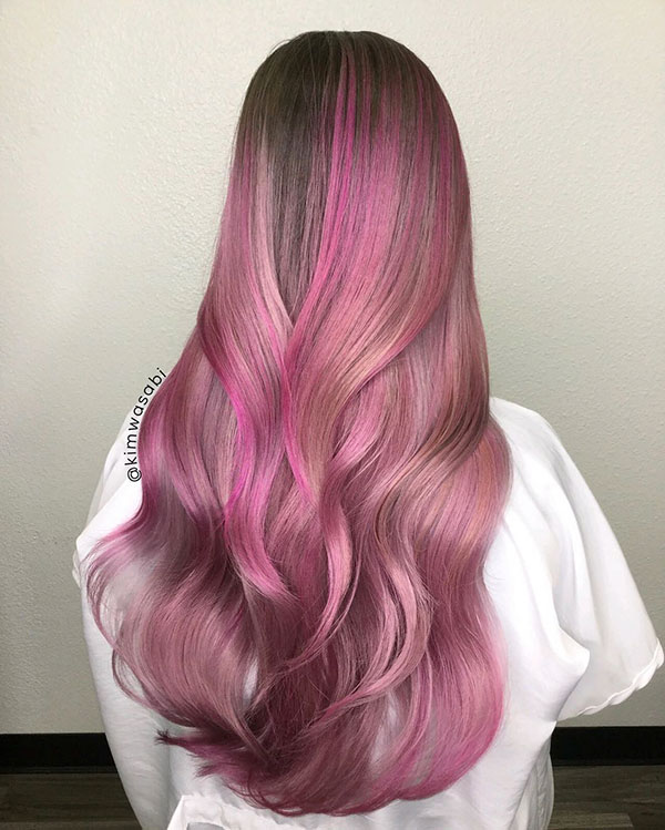 Pink Hairstyles For Long Hair