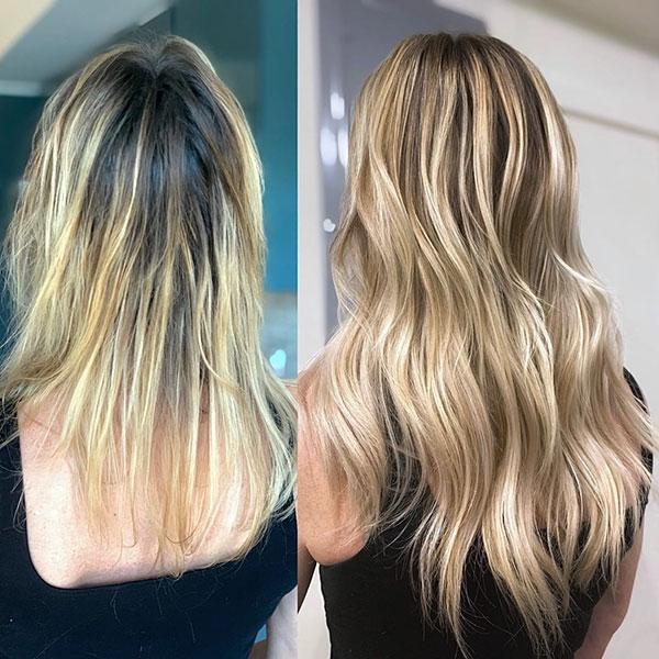 Long Balayage Hair Pics
