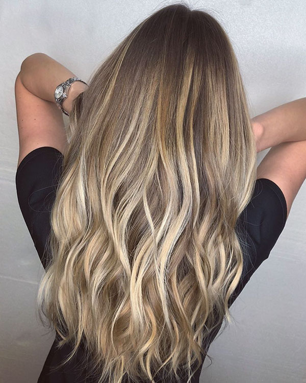 Ombre Long Hair Images