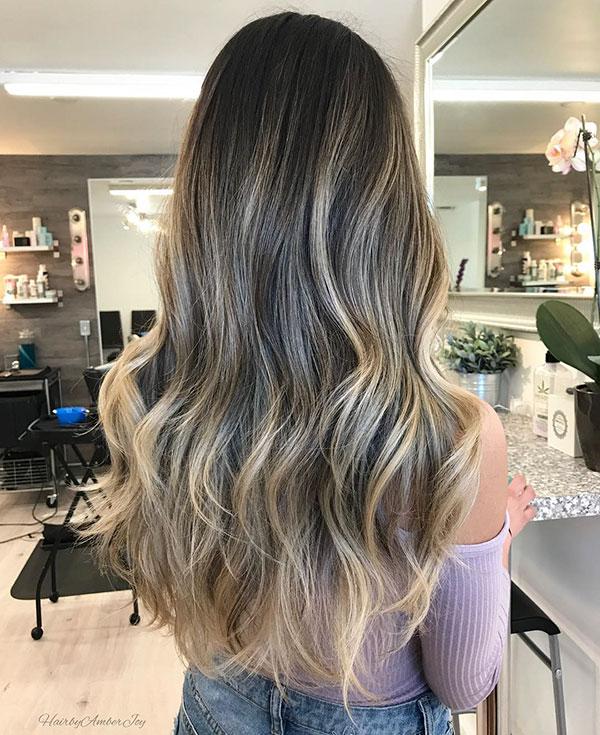 Long Hair Ombre Ideas