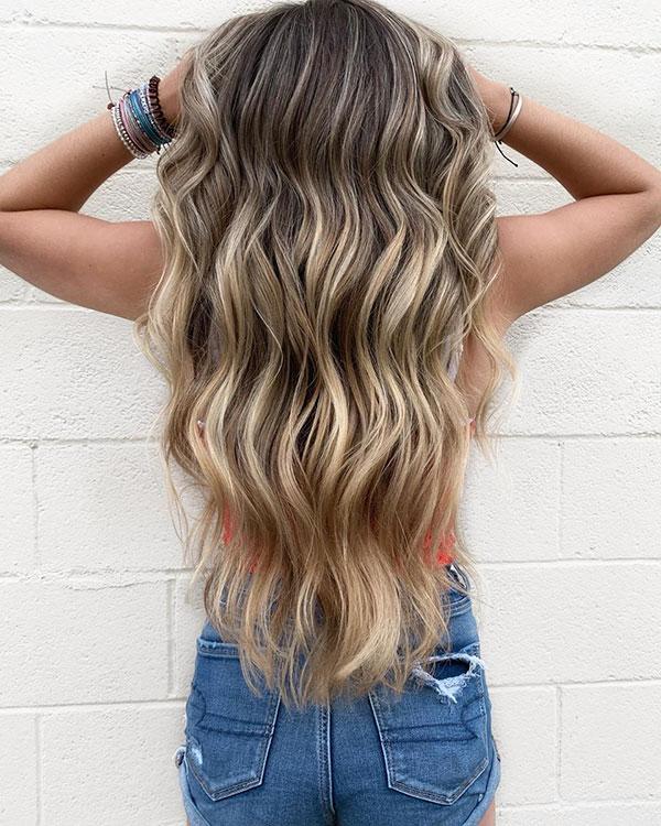 Long Blonde Hair Color
