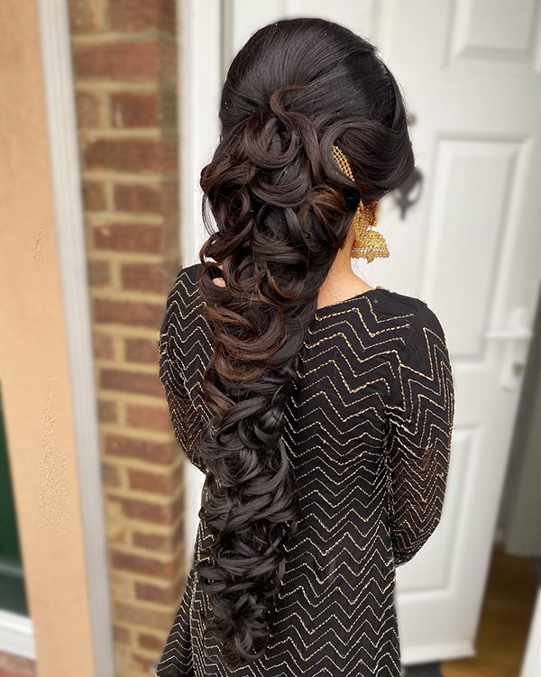 Images Of Long Bridesmaid Hairstyles