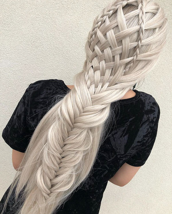 Long Hair And Half Up Hairstyle