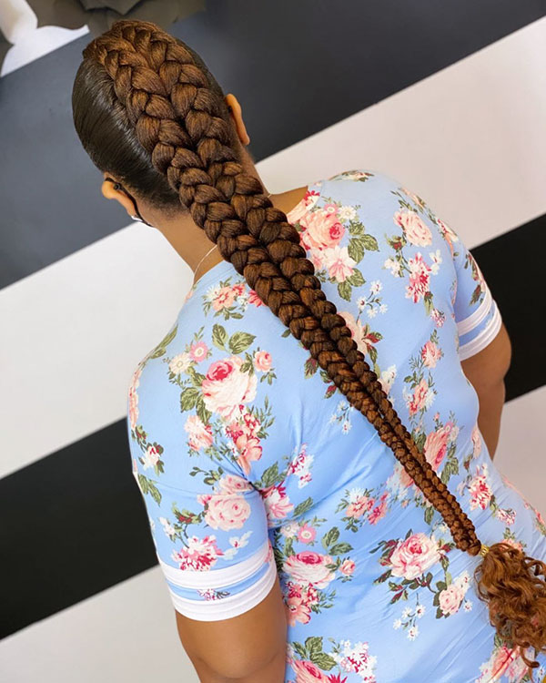 Long Box Braids For Black Women