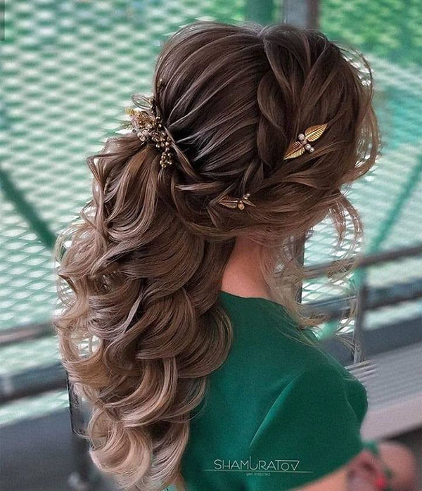 Long Hair And Bridesmaid Hairstyle